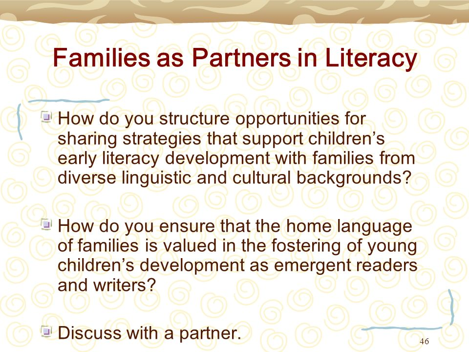 Families as Partners in Literacy