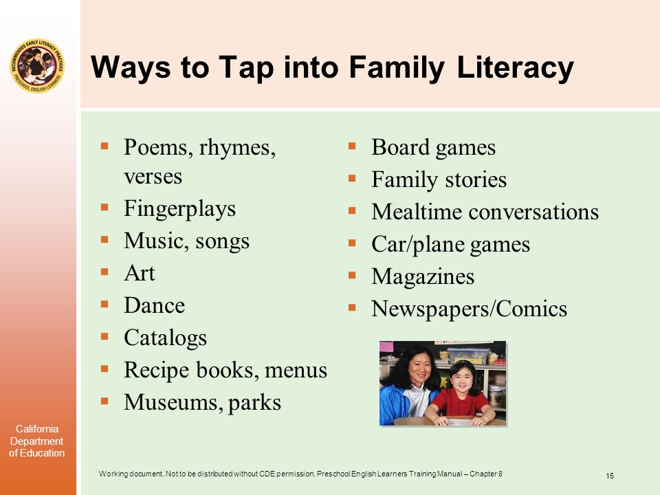 Ways to Tap into Family Literacy