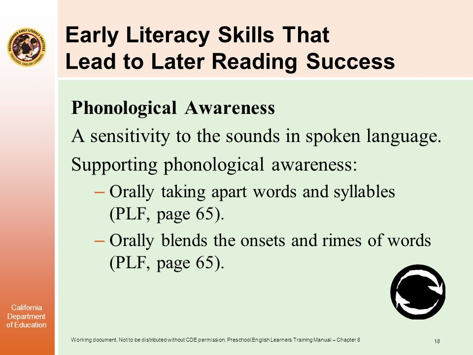 Early Literacy Skills That Lead to Later Reading Success