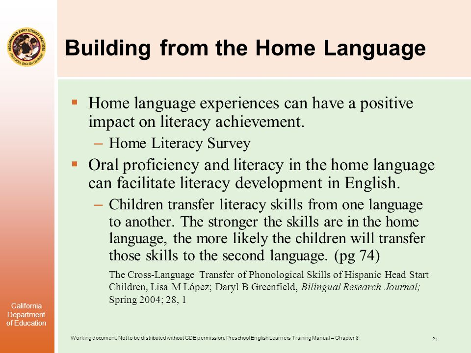 Building from the Home Language