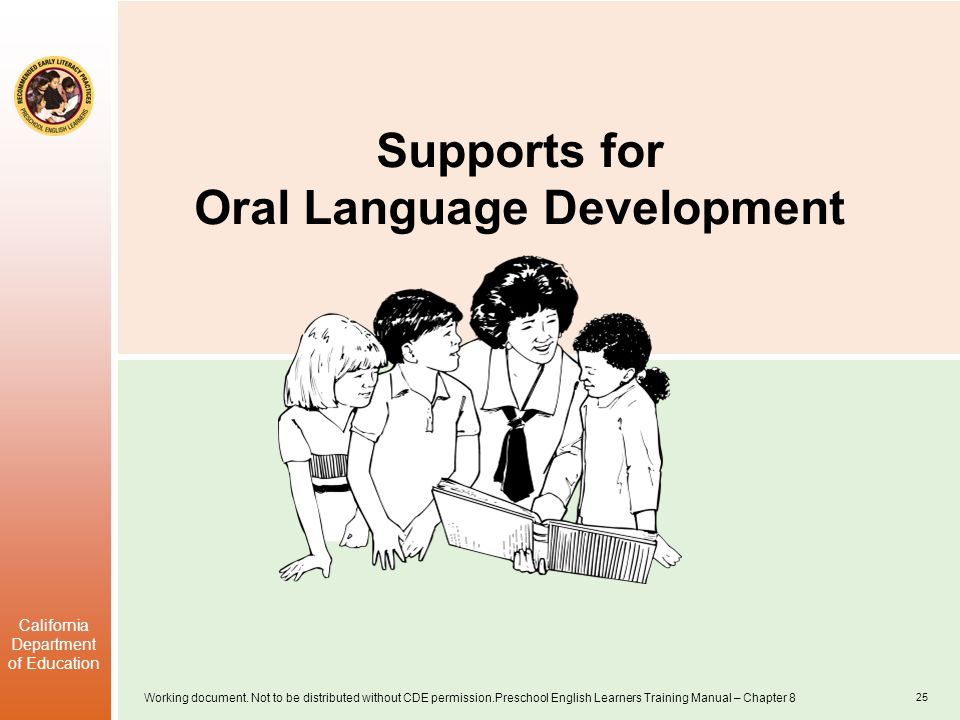 Supports for Oral Language Development
