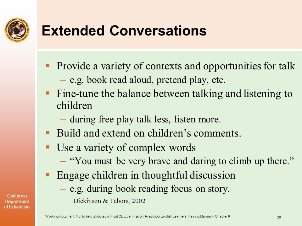 Extended Conversations