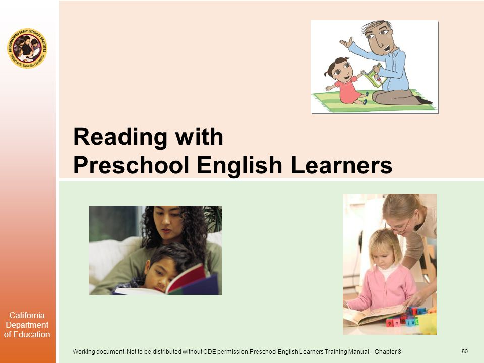 Reading with Preschool English Learners