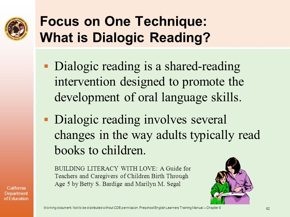 Focus on One Technique: What is Dialogic Reading