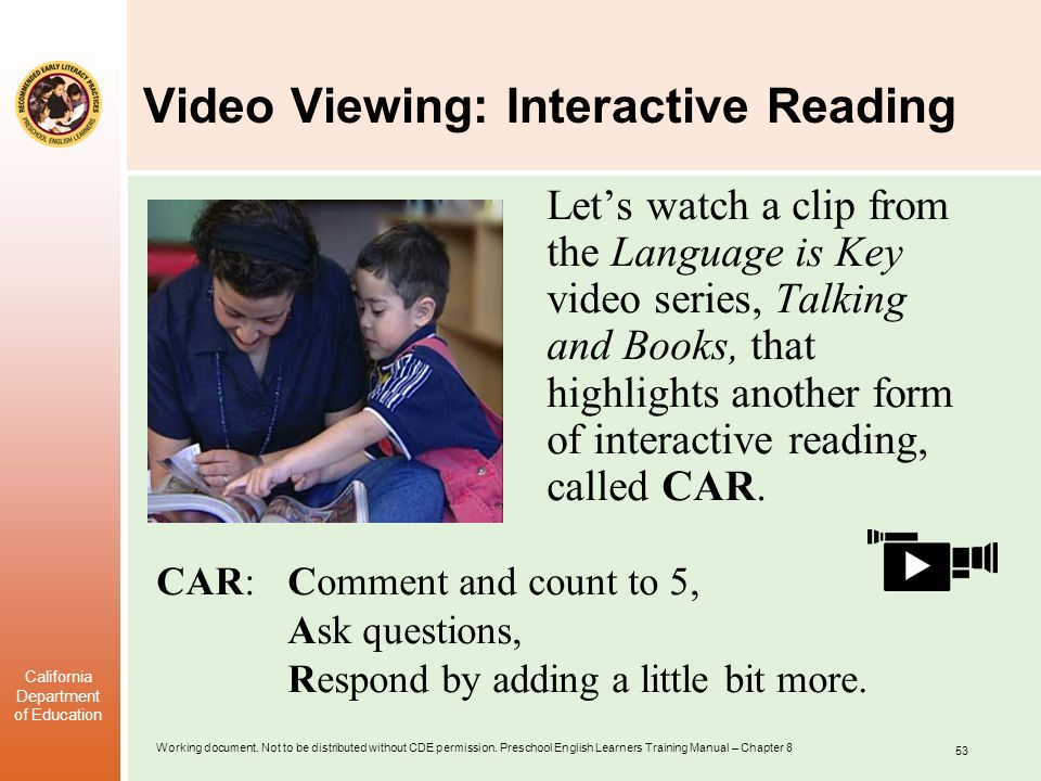 Video Viewing: Interactive Reading