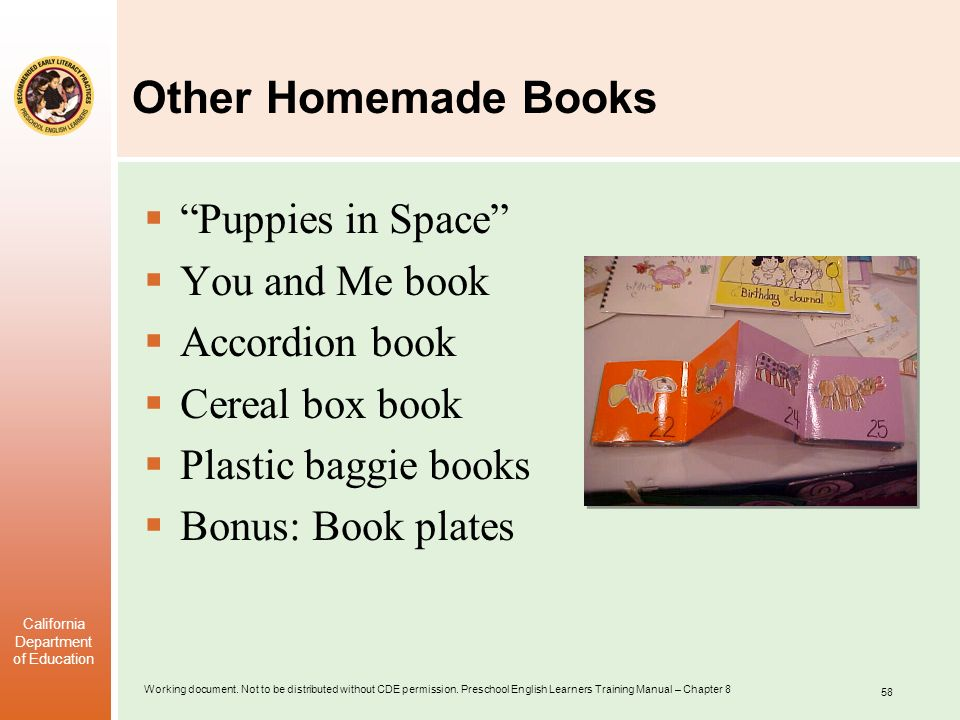 Other Homemade Books Puppies in Space You and Me book Accordion book