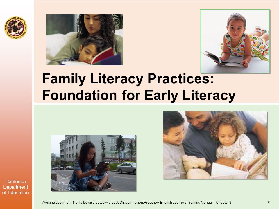 Family Literacy Practices: Foundation for Early Literacy