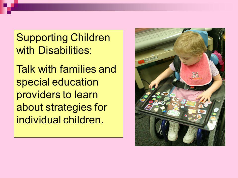 Supporting Children with Disabilities: