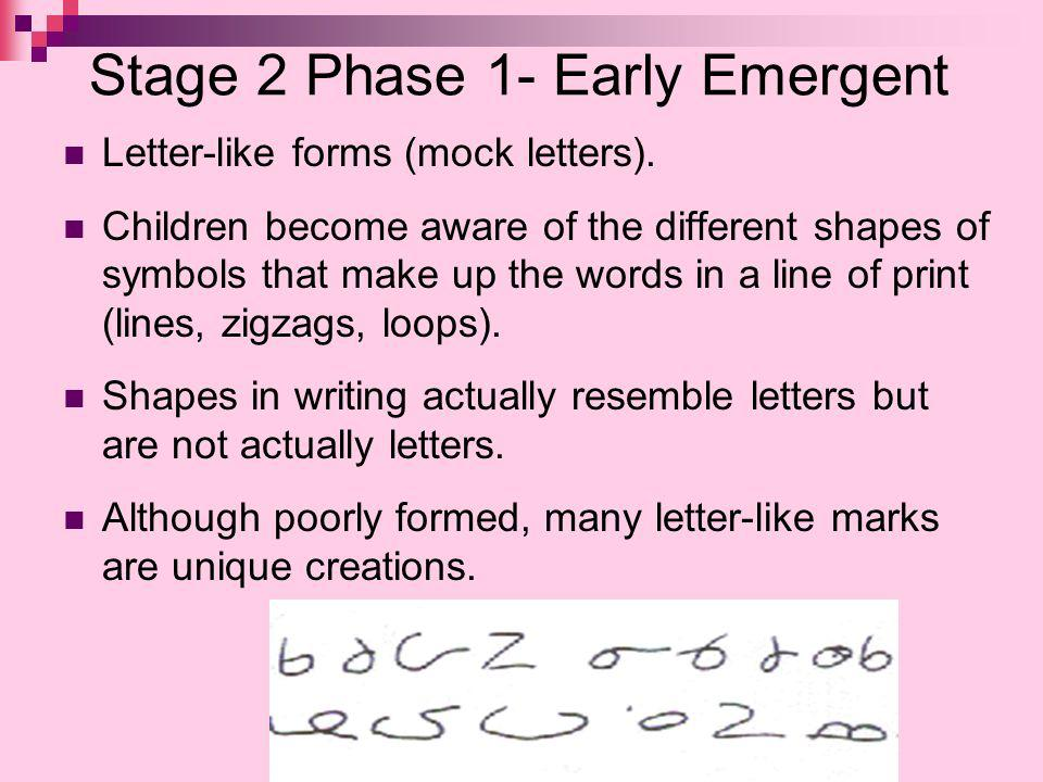 Stage 2 Phase 1- Early Emergent
