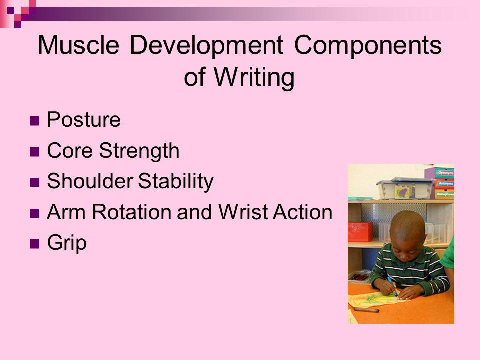 Muscle Development Components of Writing