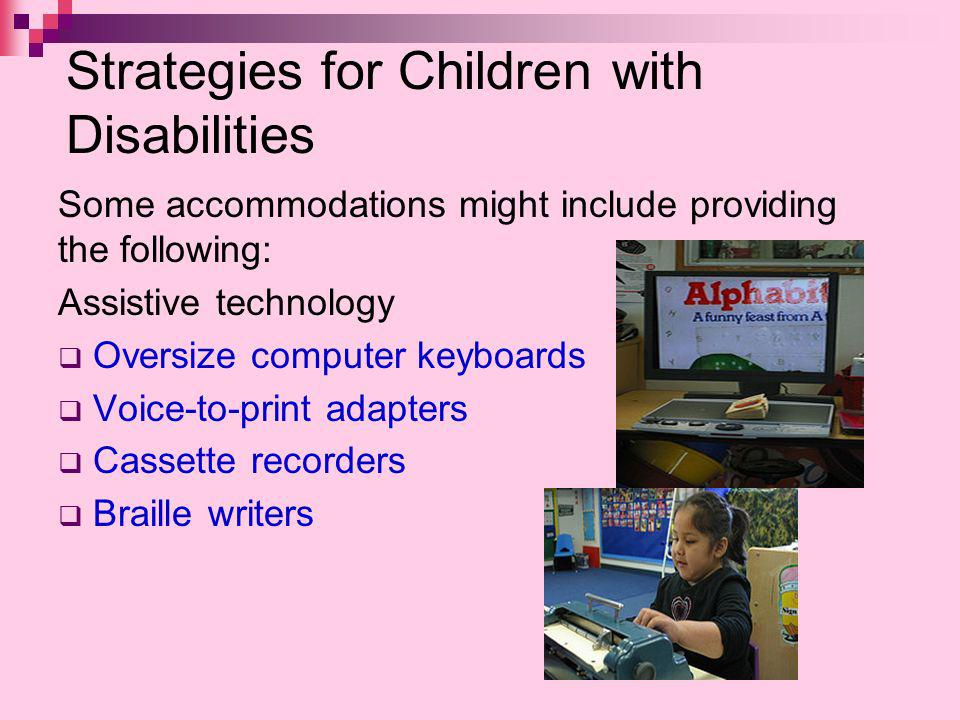 Strategies for Children with Disabilities