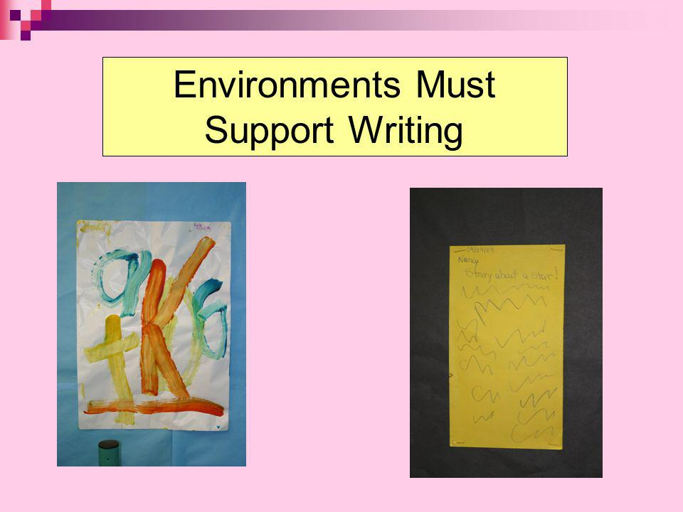 Environments Must Support Writing