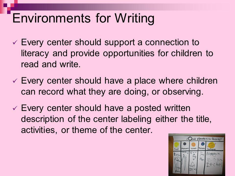 Environments for Writing