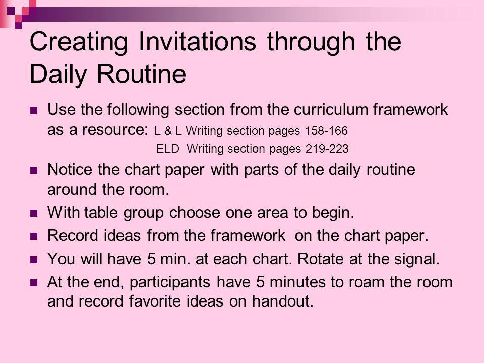 Creating Invitations through the Daily Routine