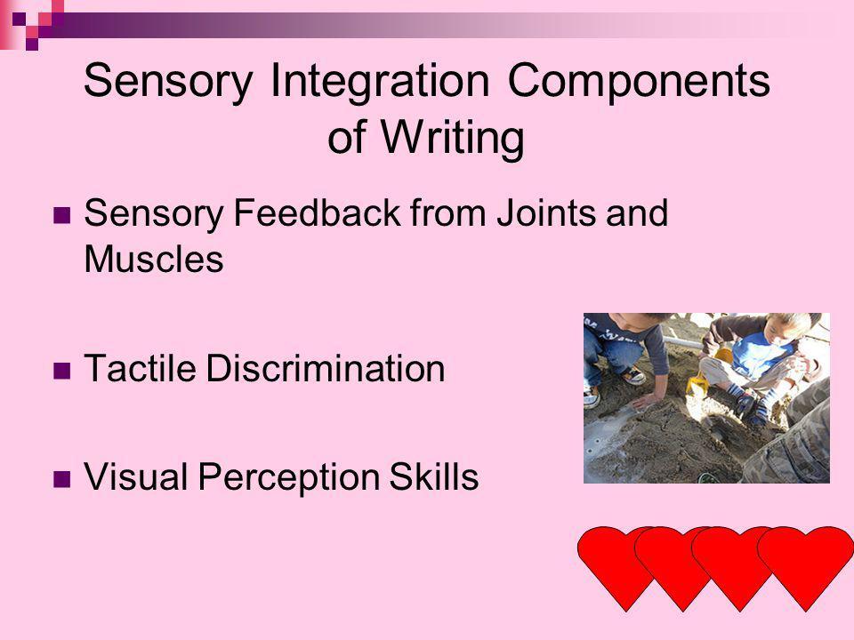 Sensory Integration Components of Writing