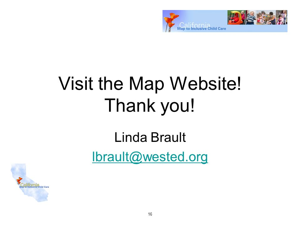 Visit the Map Website! Thank you!
