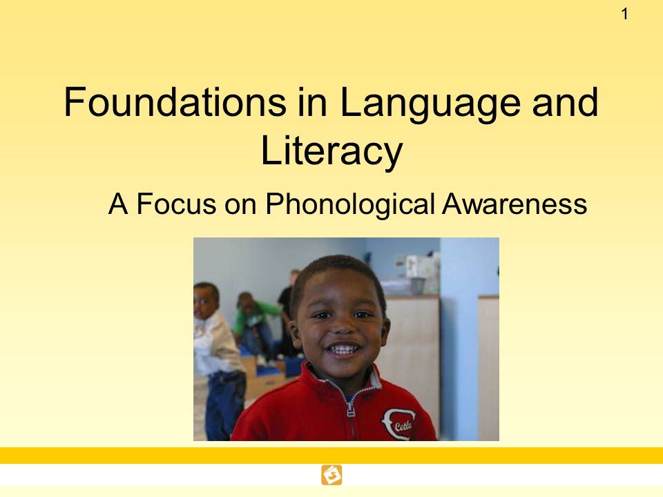 Foundations in Language and Literacy