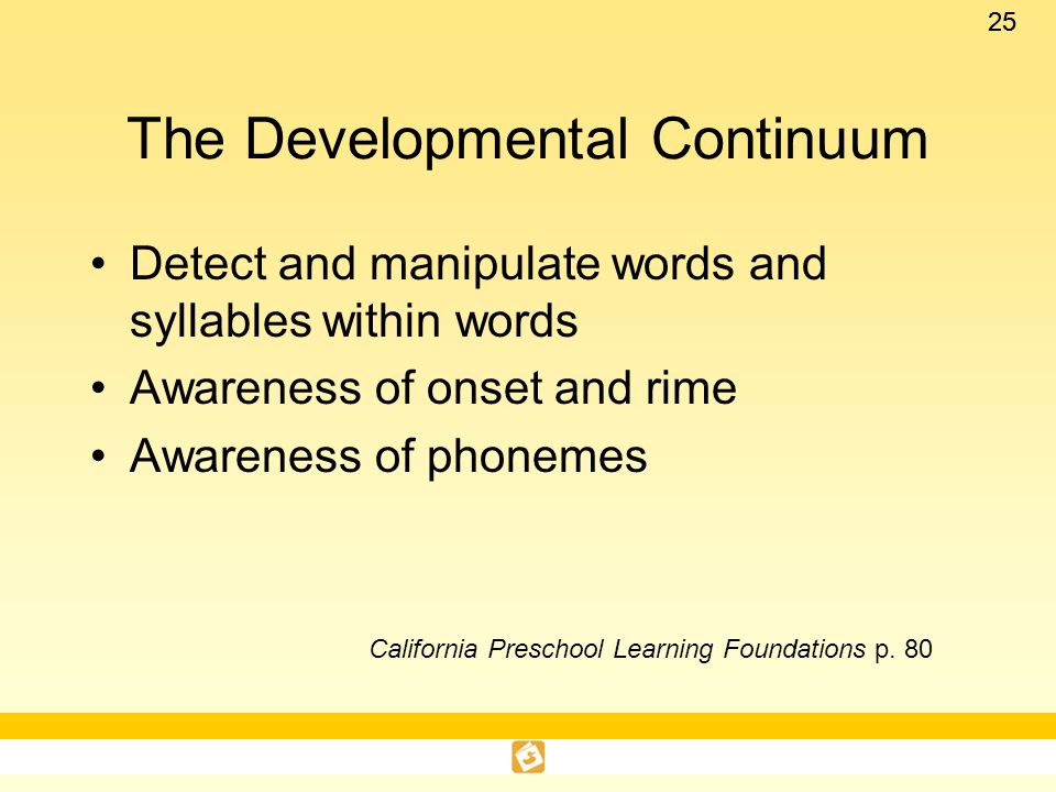 The Developmental Continuum