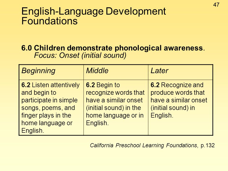 English-Language Development Foundations 6