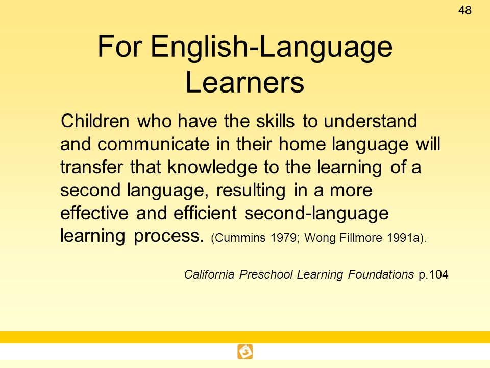 For English-Language Learners