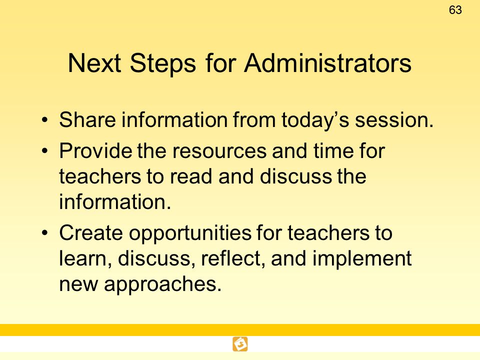 Next Steps for Administrators