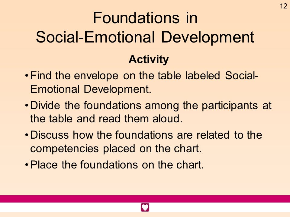Foundations in Social-Emotional Development