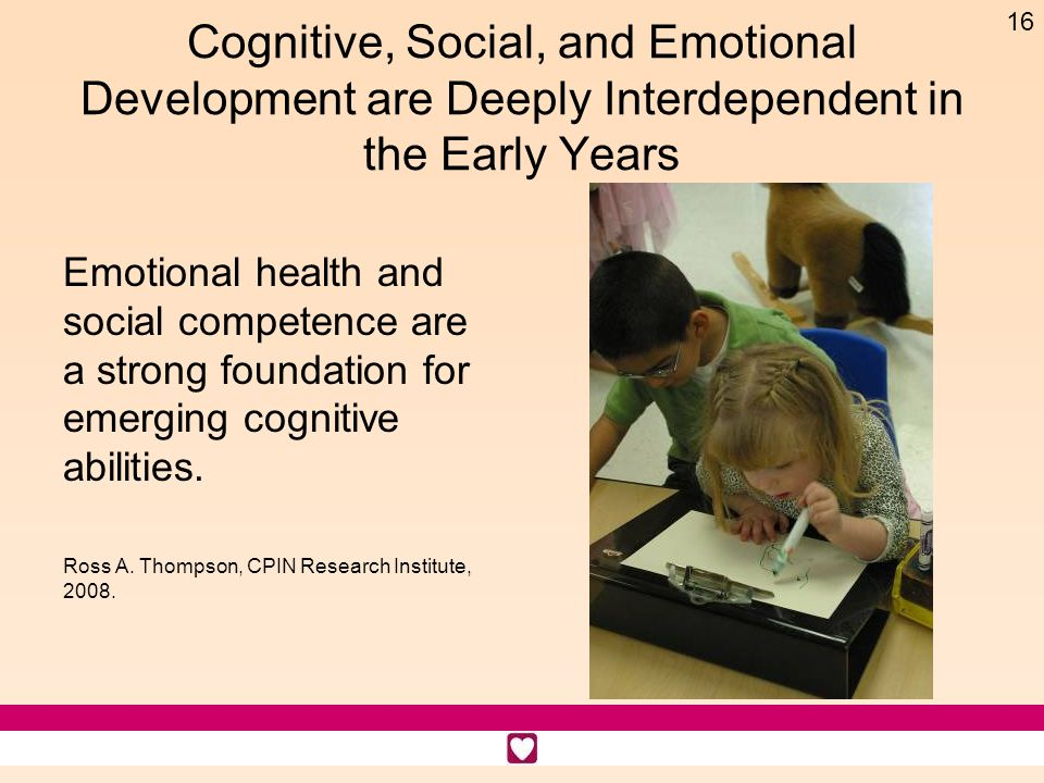 Cognitive, Social, and Emotional Development are Deeply Interdependent in the Early Years