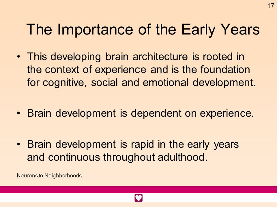 The Importance of the Early Years