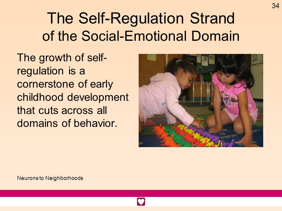 The Self-Regulation Strand of the Social-Emotional Domain