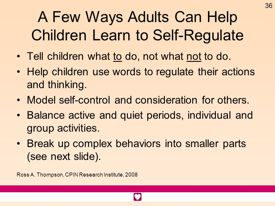A Few Ways Adults Can Help Children Learn to Self-Regulate