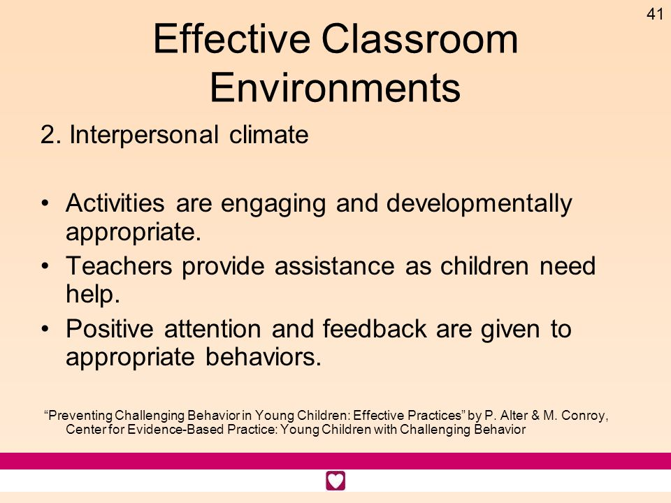 Effective Classroom Environments