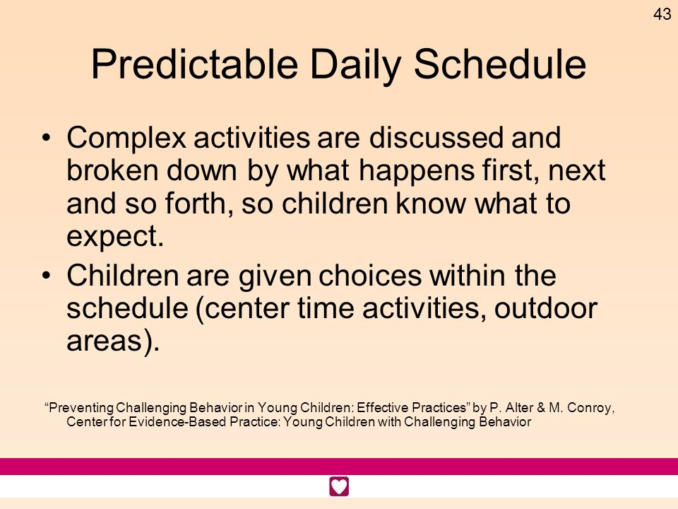 Predictable Daily Schedule