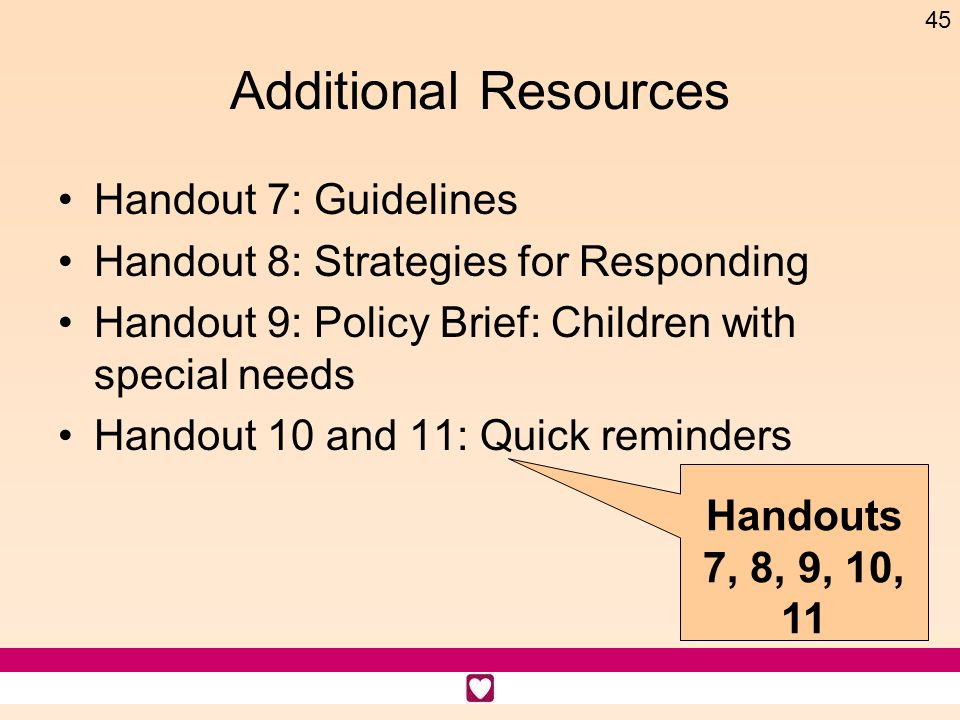 Additional Resources Handout 7: Guidelines