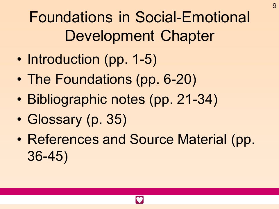 Foundations in Social-Emotional Development Chapter