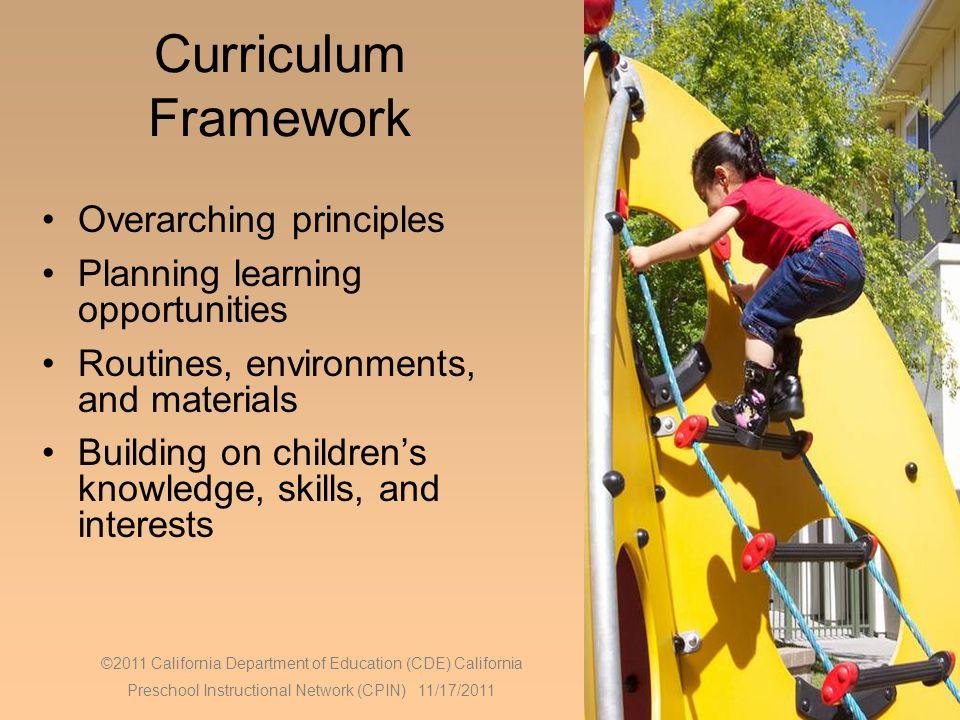 Curriculum Framework Overarching principles