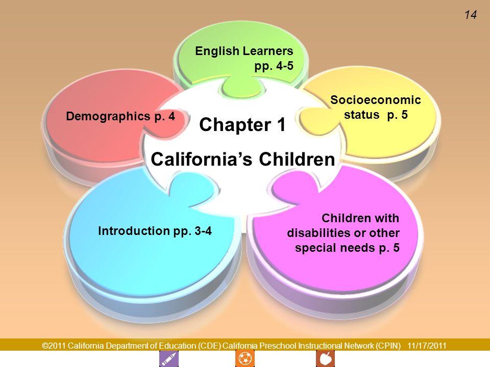 California's Children Socioeconomic status p. 5