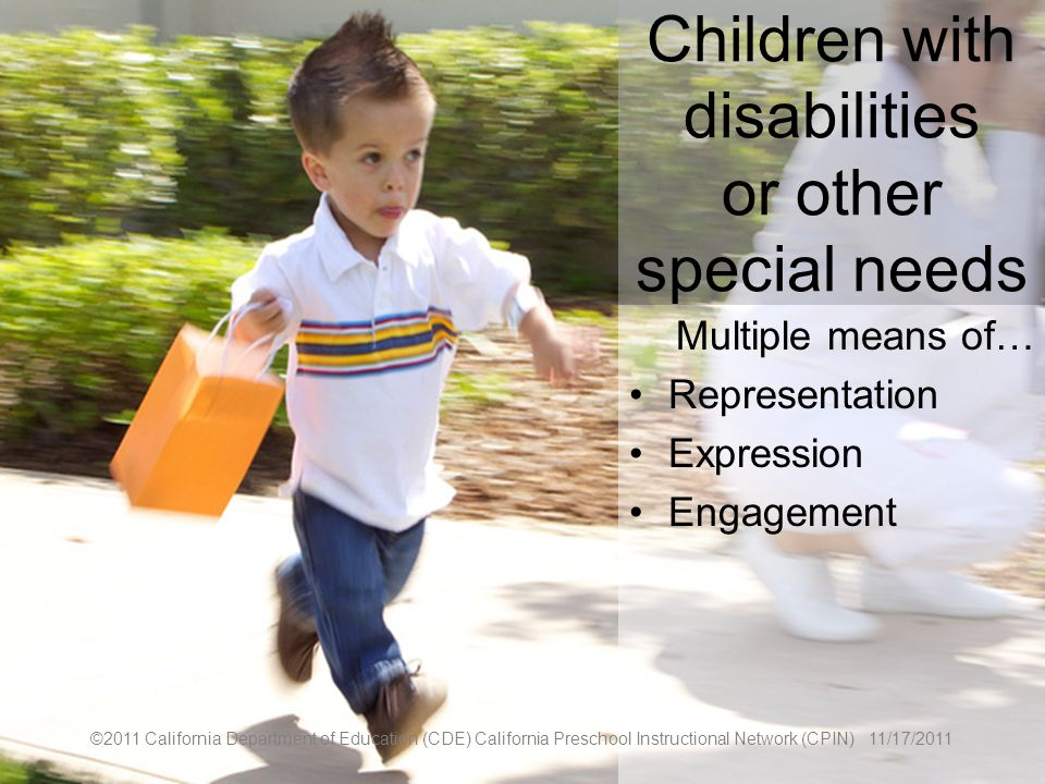 Children with disabilities or other special needs