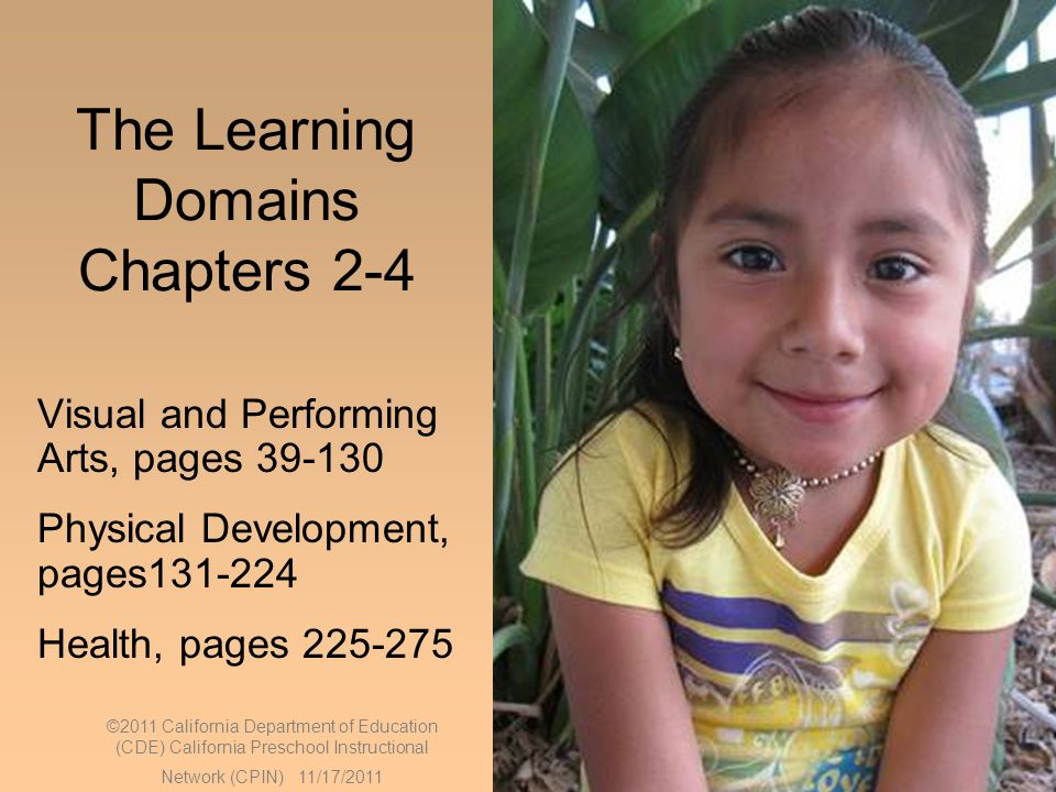 The Learning Domains Chapters 2-4