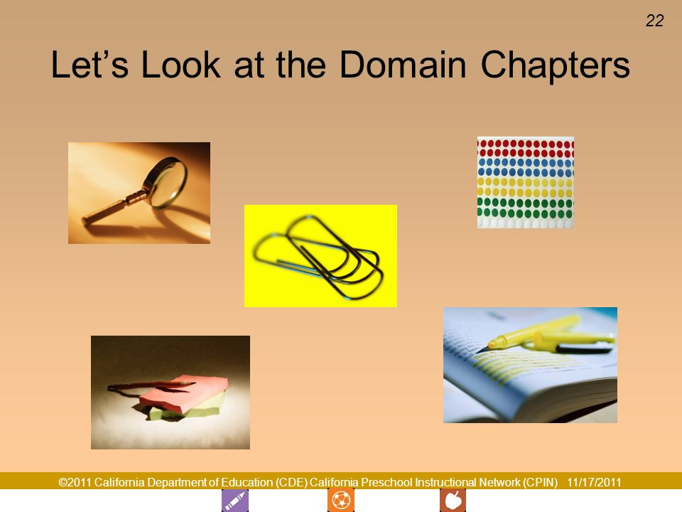 Let's Look at the Domain Chapters