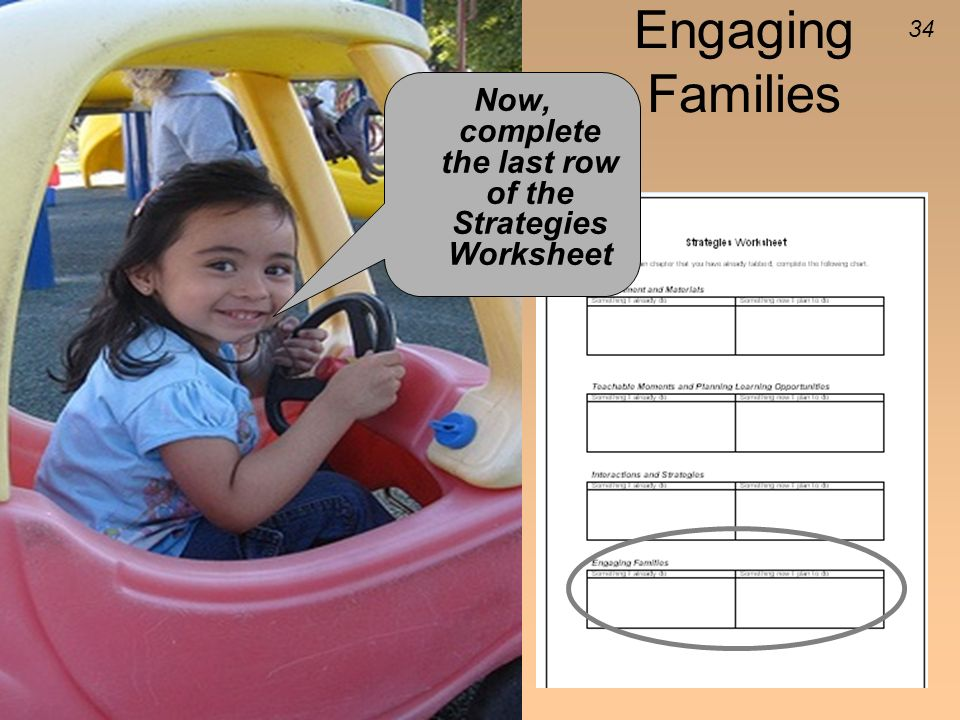 Now, complete the last row of the Strategies Worksheet