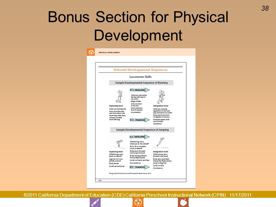 Bonus Section for Physical Development