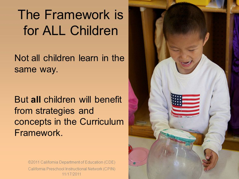 The Framework is for ALL Children