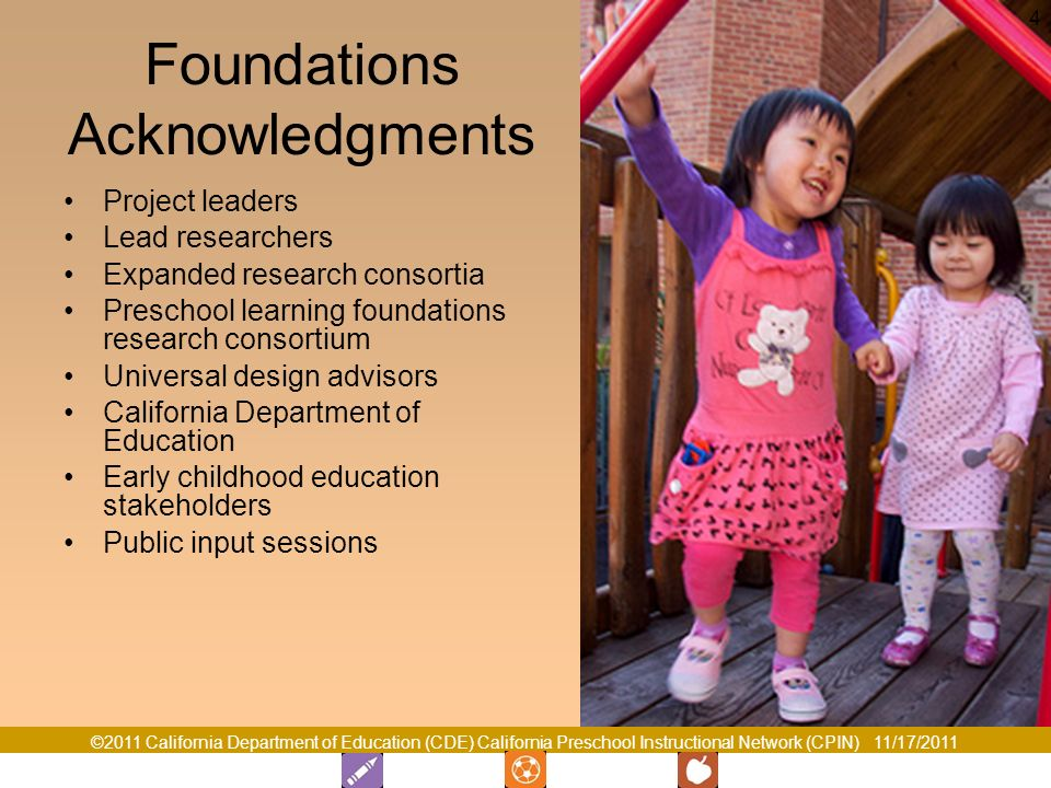 Foundations Acknowledgments