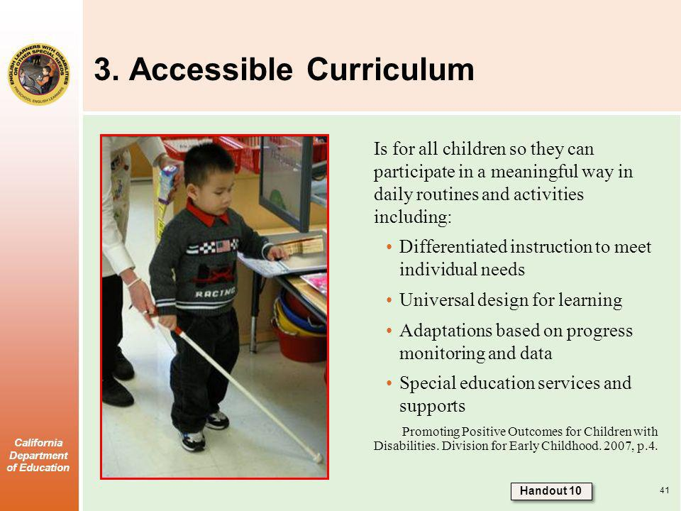 3. Accessible Curriculum