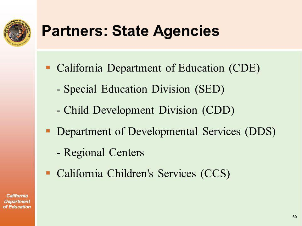 Partners: State Agencies