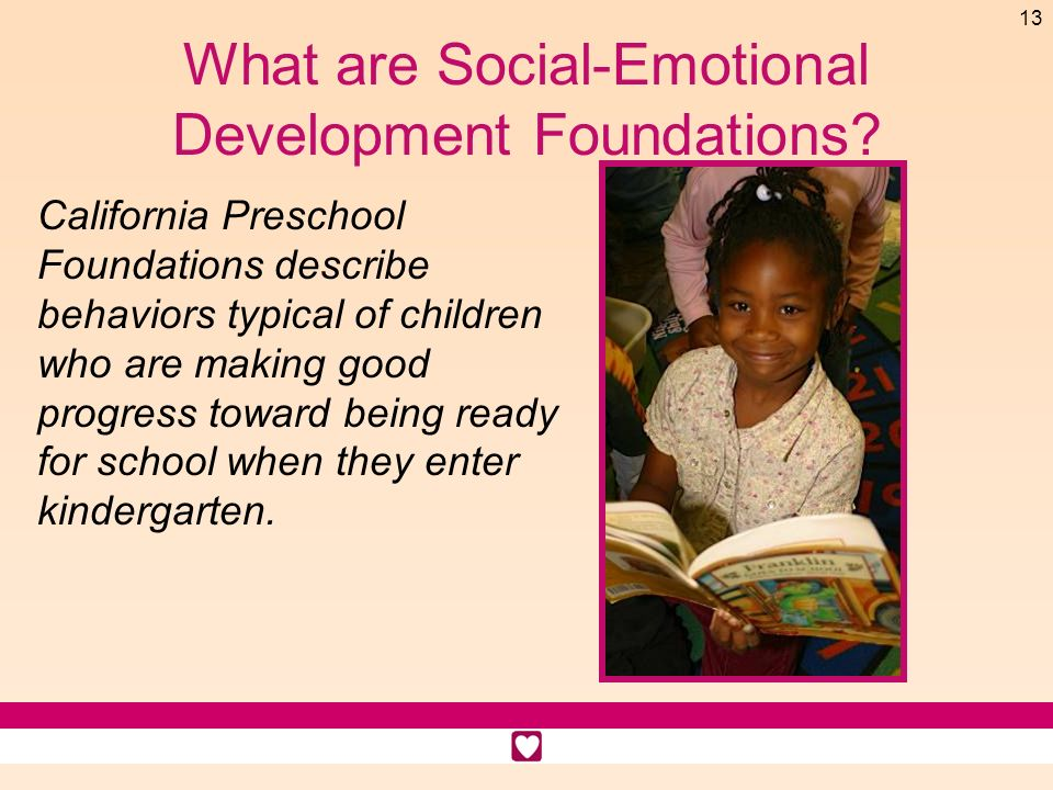 What are Social-Emotional Development Foundations
