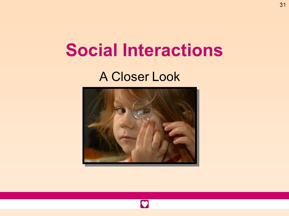 Social Interactions A Closer Look