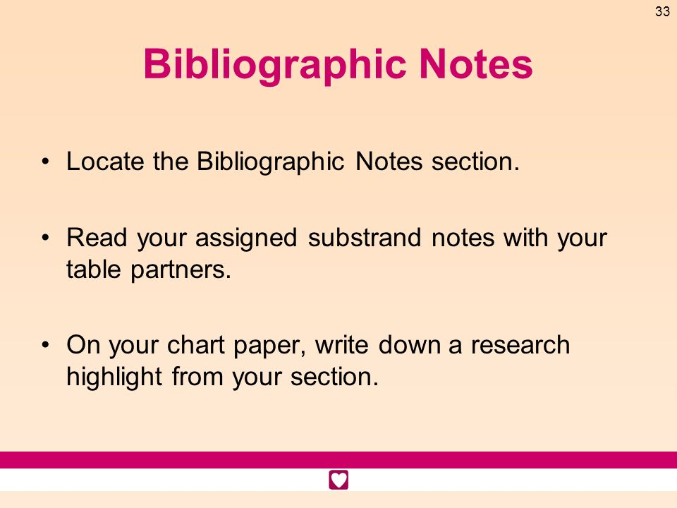 Bibliographic Notes Locate the Bibliographic Notes section.