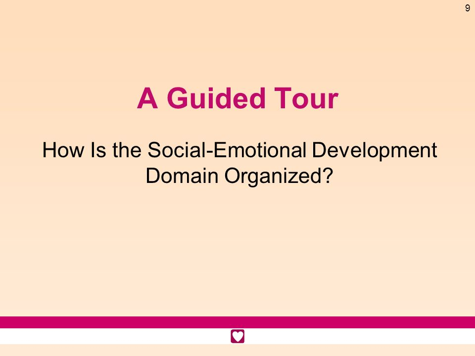 How Is the Social-Emotional Development Domain Organized