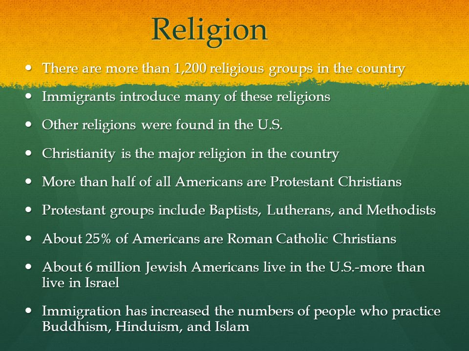 Religion There are more than 1,200 religious groups in the country